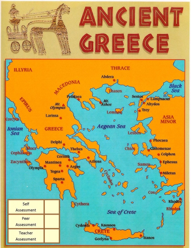 Touch This Image: Ancient Greece - An Interactive Mapyr2   Ed - Ancient Greece Map For Kids Printables
