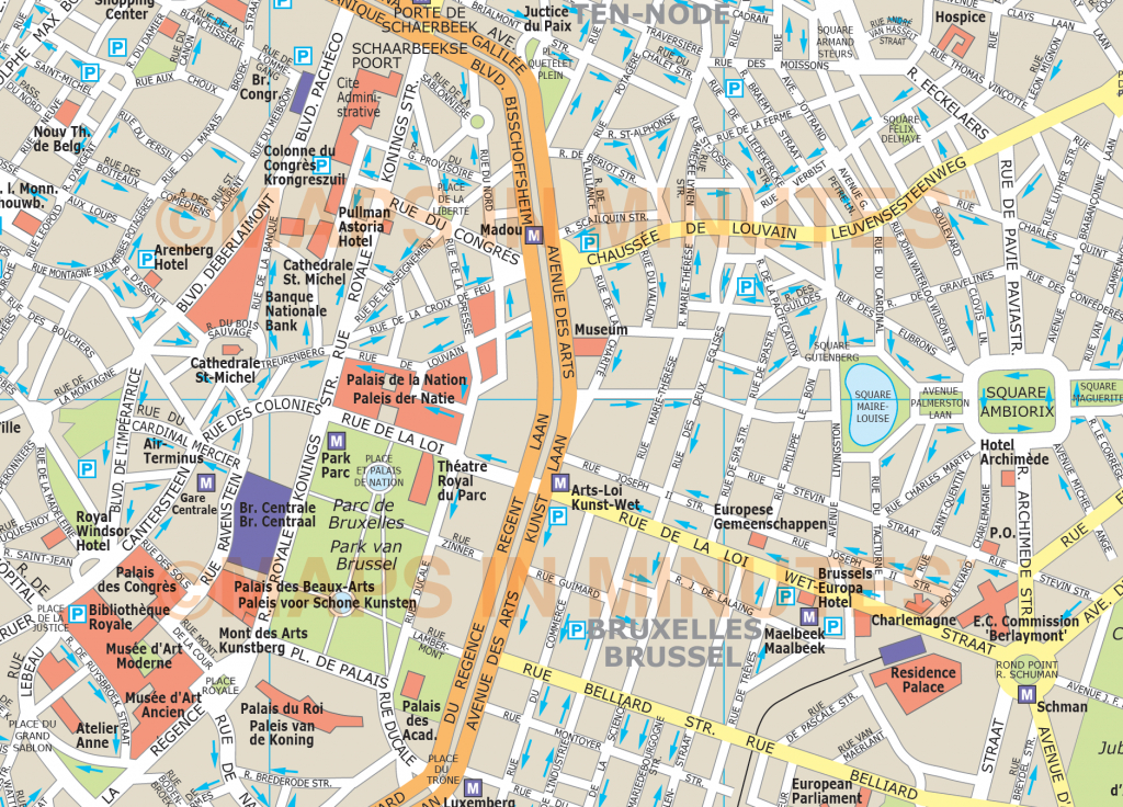 Tourist Map Brussels | City Maps - Printable Map Of Brussels