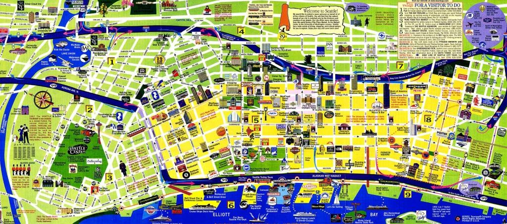 Tourist Map Of Seattle | Below Is My Favorite City Tourist Map And A - Seattle Tourist Map Printable