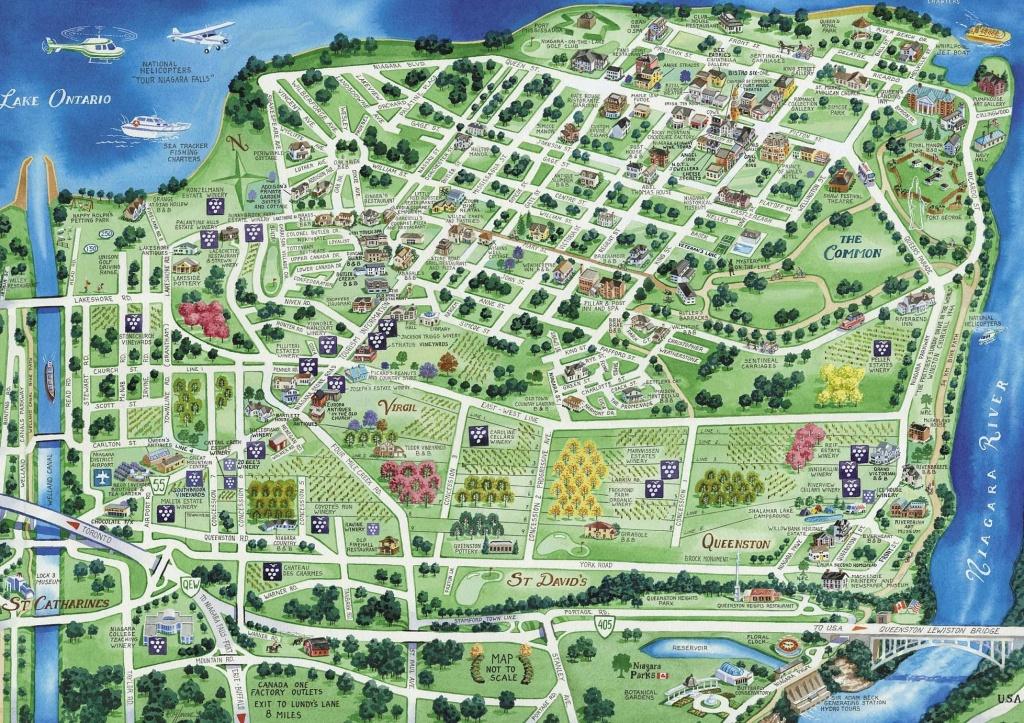Town Map Of Niagara-On-The-Lake | Niagara On The Lake | Tourist Map - Printable Map Of Niagara On The Lake