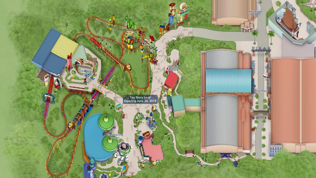 Toy Story Land Digital Maps Debut Online | Disney Parks Blog - Disney Parks Florida Map