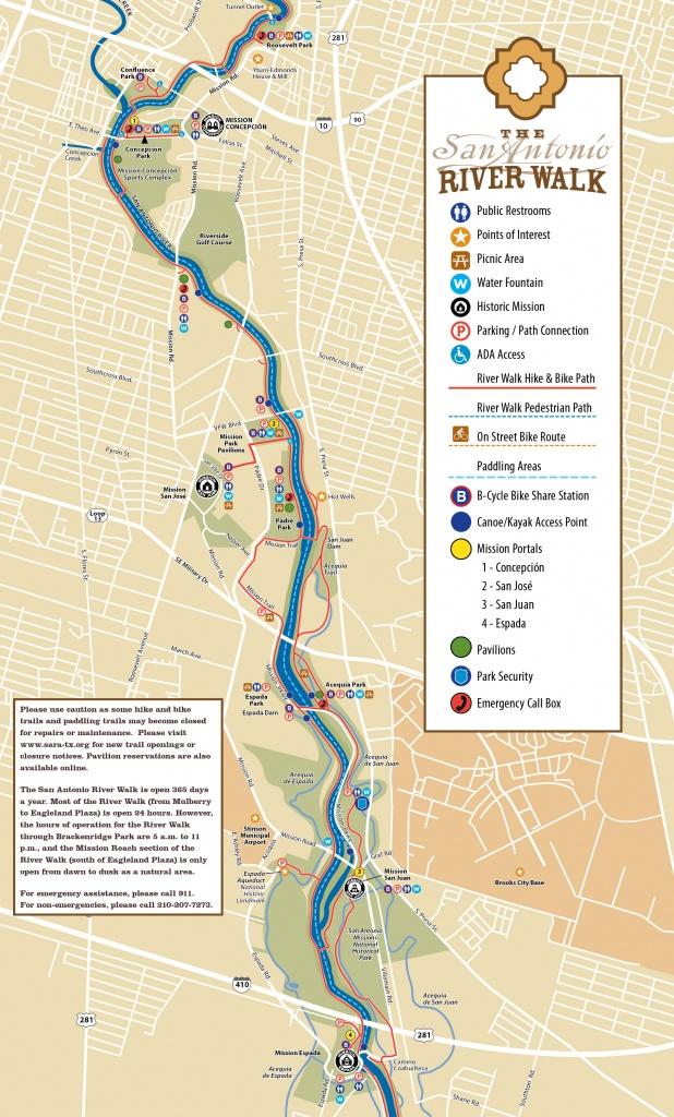 Tpwd: Mission Reach Paddling Trail | | Texas Paddling Trails - Texas Kayak Fishing Maps