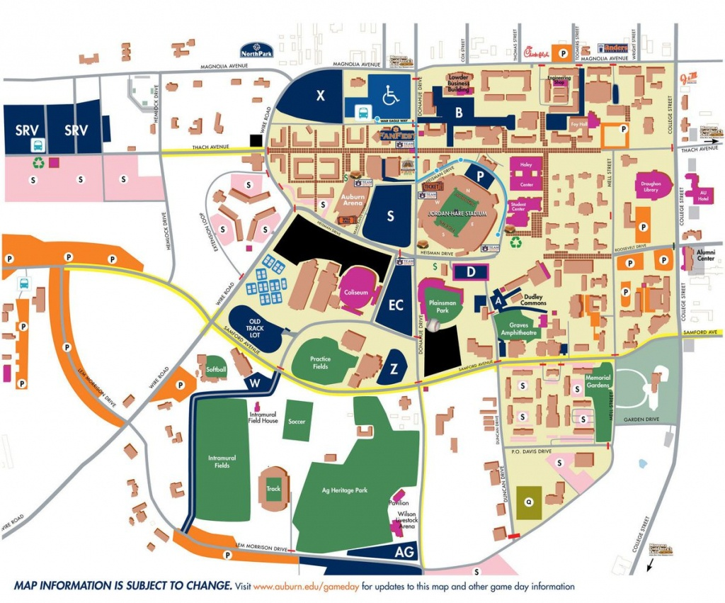 Traffic And Parking Tips For Saturday's Auburn-Texas A&m Game (Au - Texas A&m Football Parking Map