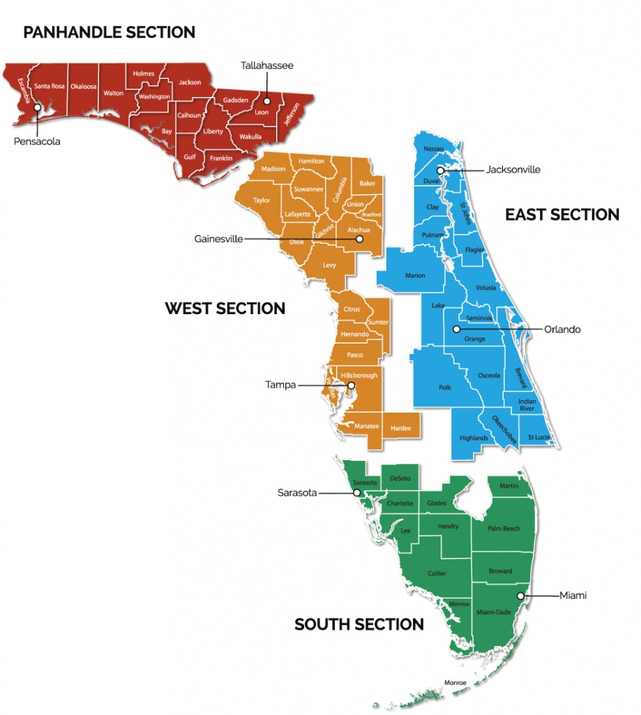 Trail Sections | Gfbwt - Florida Trail Map Pdf