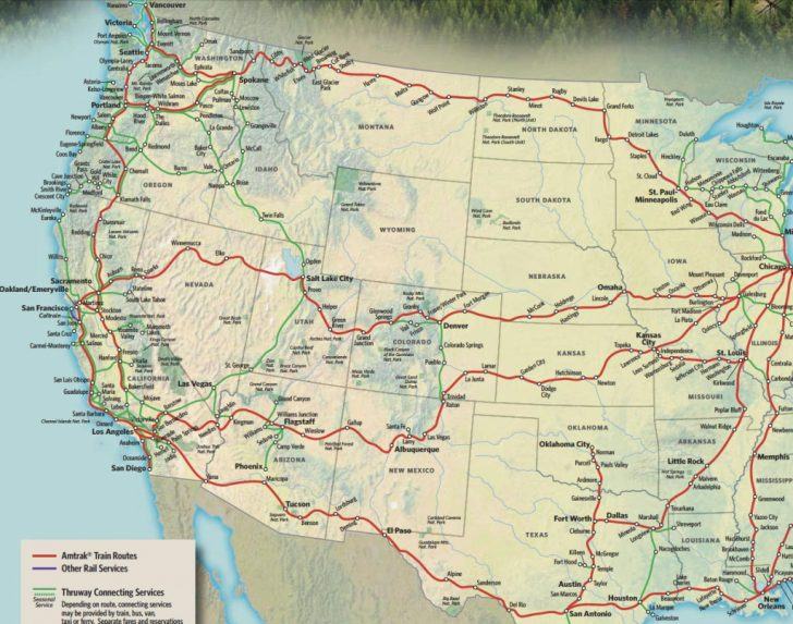 Amtrak California Zephyr Route Map