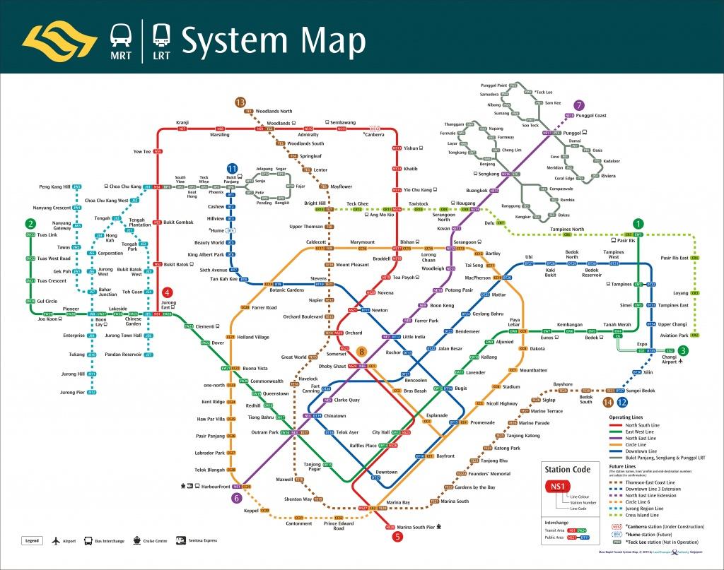 Train System Map   Mrt & Lrt Trains   Public Transport   Land - Singapore Mrt Map Printable