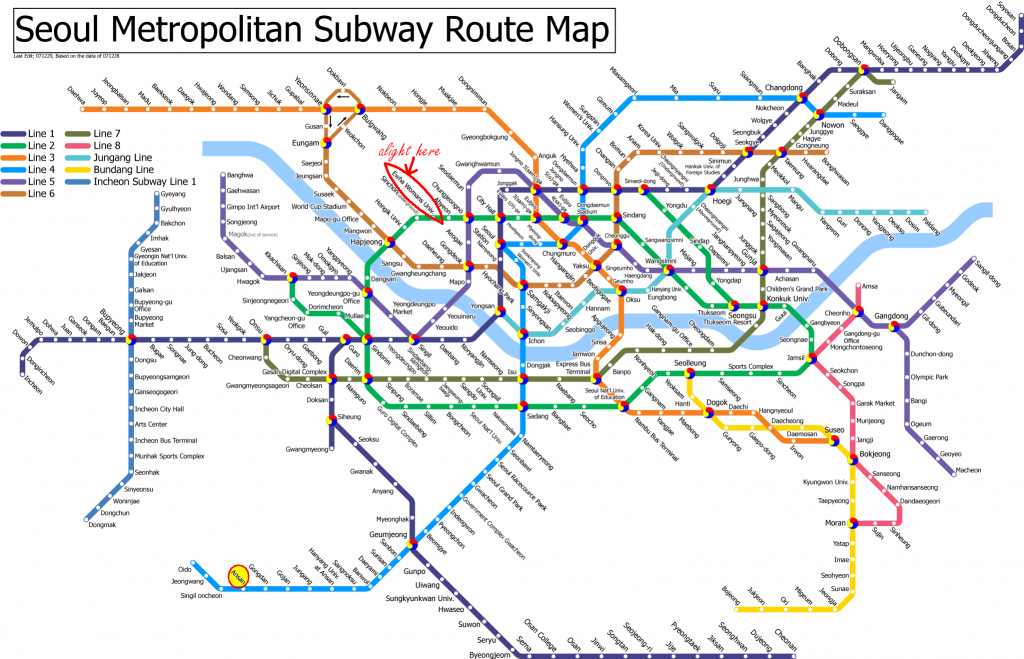 Travel: A Guide To Shopping In Seoul   Korea   Subway Map, Korea Map - Printable Seoul Subway Map