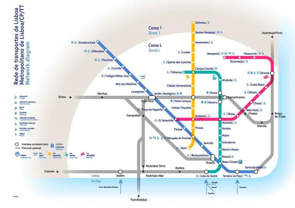 Travel Guide Lisboa Blog Transport Diagram   Travel   Lisbon Airport - Lisbon Metro Map Printable