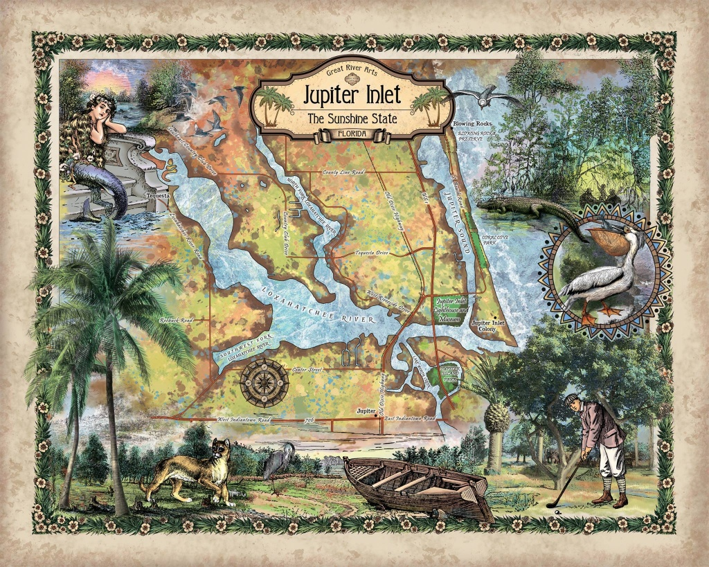 Travel Tuesday Map Feature: 285-Jupiter Inlet, Florida - Great River - Jupiter Inlet Florida Map