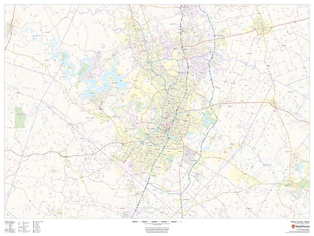 Travis County Texas Map - Travis County Texas Map