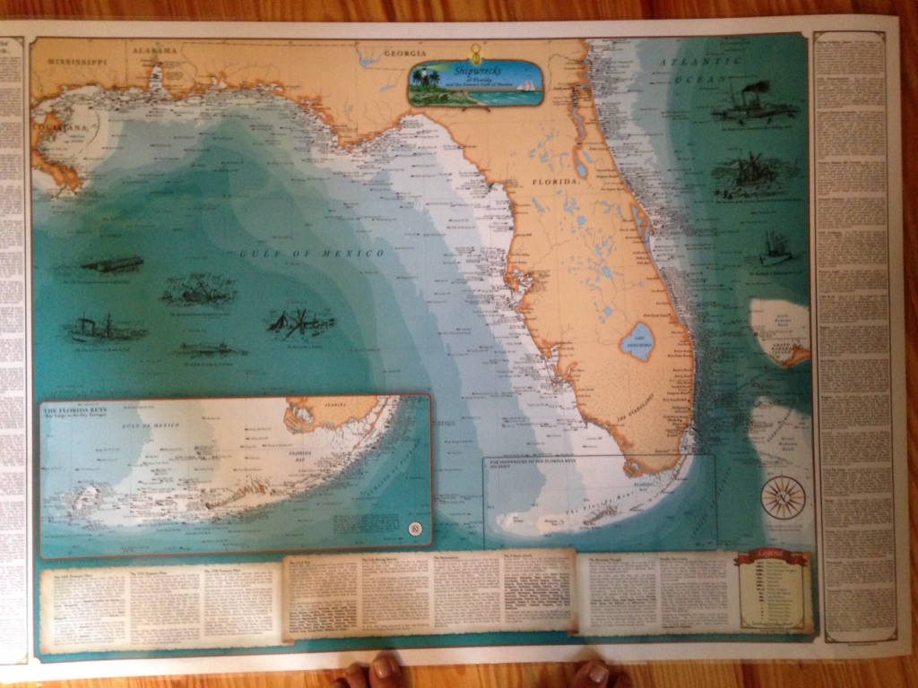 Treasure Coast Ships Map | Jacqui Thurlow-Lippisch - Treasure Coast Florida Map