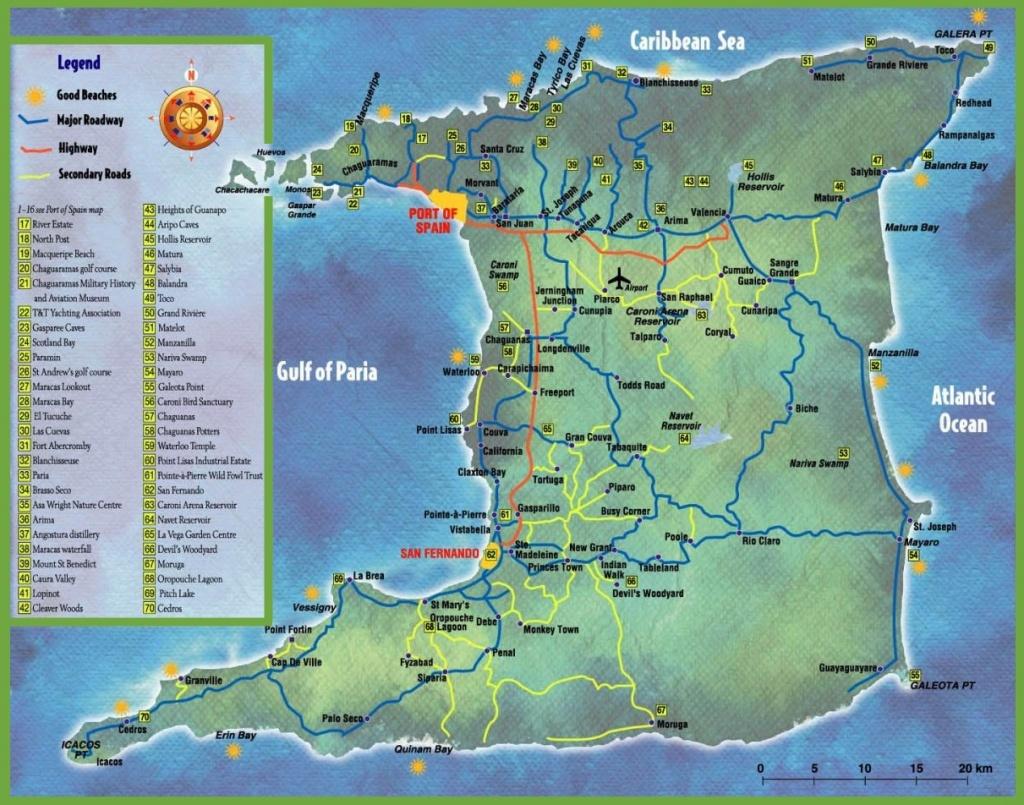 Trinidad And Tobago Maps | Maps Of Trinidad And Tobago - Printable Map Of Trinidad And Tobago