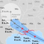 Tropical Storm Gordon Takes Aim At Gulf Coast After Battering Florida - Map Of Florida Panhandle Gulf Coast