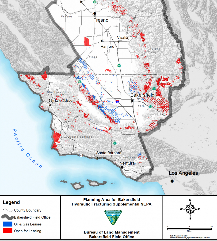 Trump Proposes Fracking In Western Mojave - Fracking In California Map
