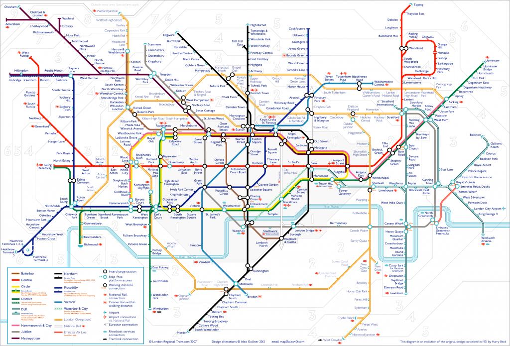 Tube Map   Alex4D Old Blog - Printable Underground Map