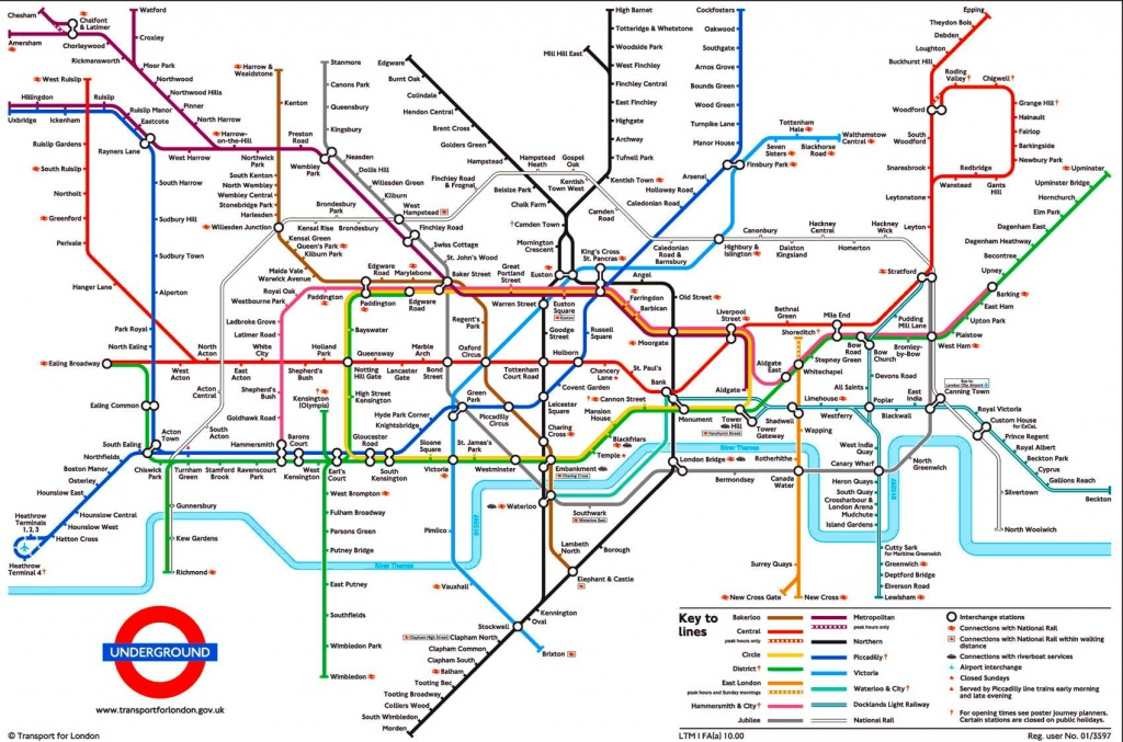 Tube Map, London Underground | L D N In 2019 | London Tube Map - Printable London Underground Map