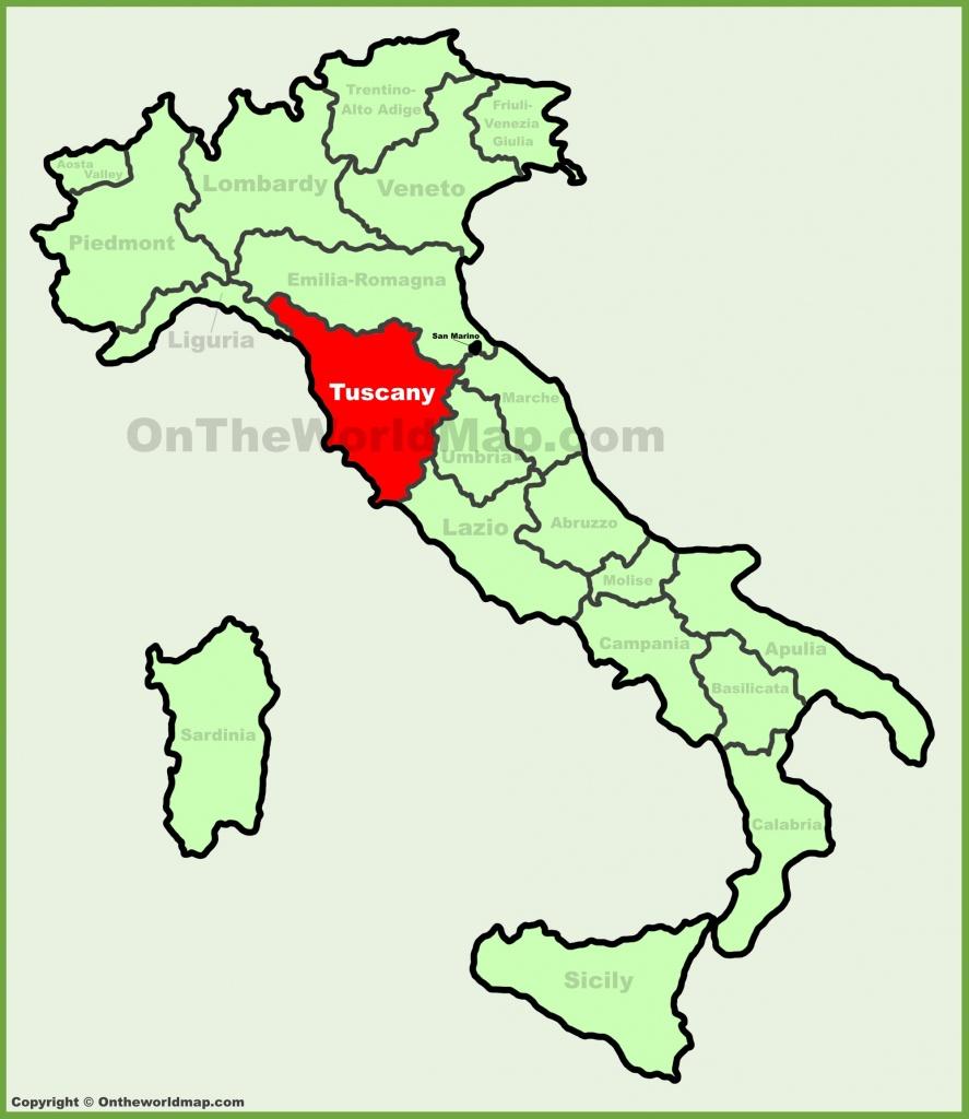 Tuscany Maps | Italy | Maps Of Tuscany (Toscana) - Printable Map Of Tuscany