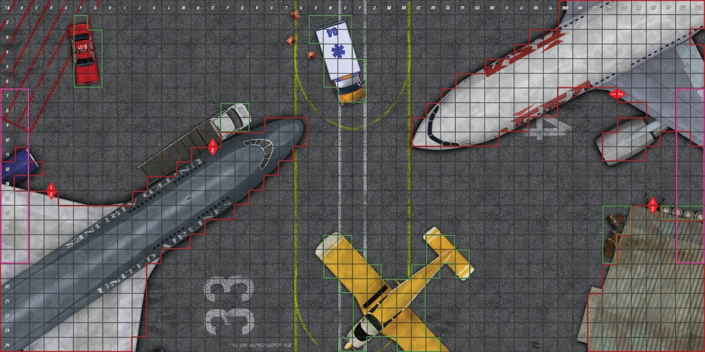 Two Printable Maps - 1) Airport And 2) Gaming Convention Re-Skin - Printable Heroclix Maps
