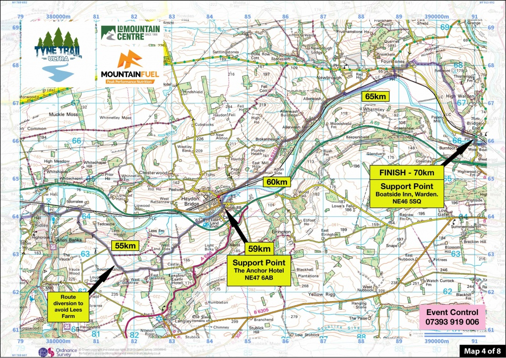 Tyne Trail Ultra | Route Maps Tyne Trail South - Printable Os Maps
