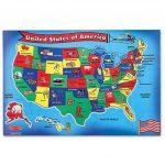 U S A Map Puzzlemelissa Amp Doug Printable Of United States   United States Map Puzzle Printable