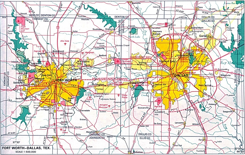 U.s. Metropolitan Area Maps - Perry-Castañeda Map Collection - Ut - Printable Map Of Dallas Fort Worth Metroplex