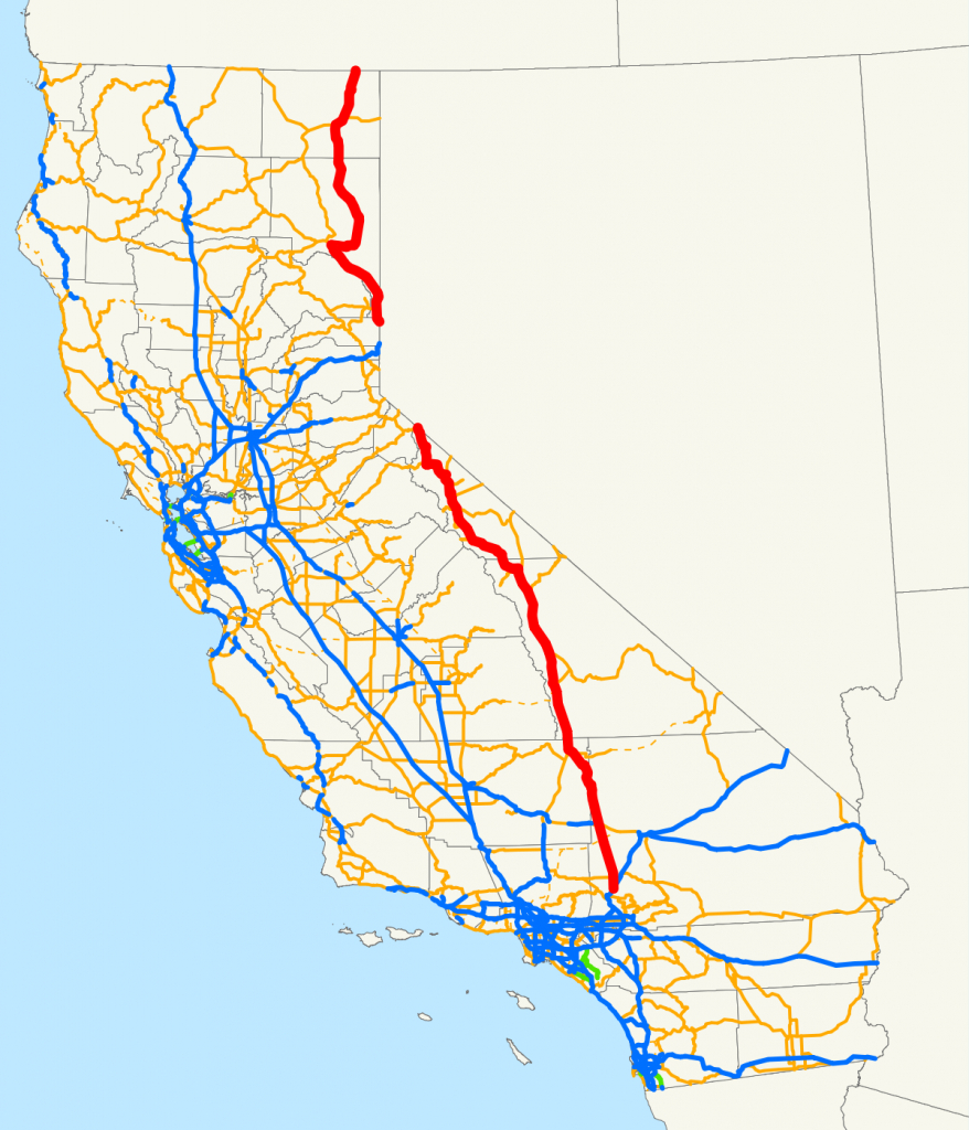 U.s. Route 395 In California - Wikipedia - Map Eastern Sierras California