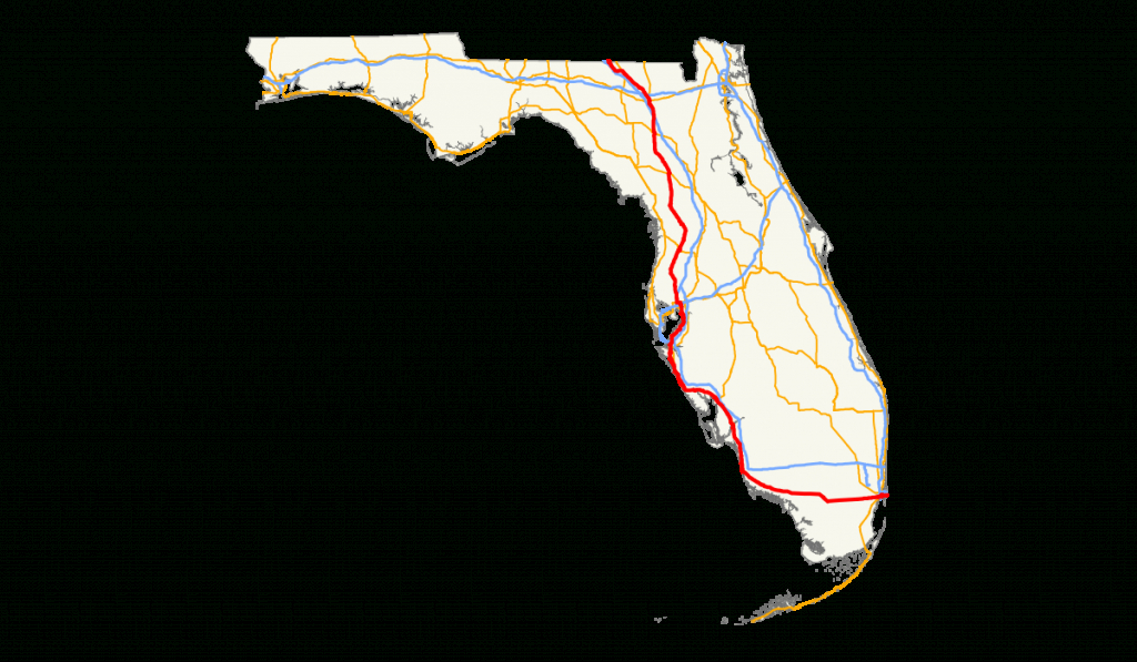 U.s. Route 41 In Florida - Wikipedia - Tamiami Trail Florida Map