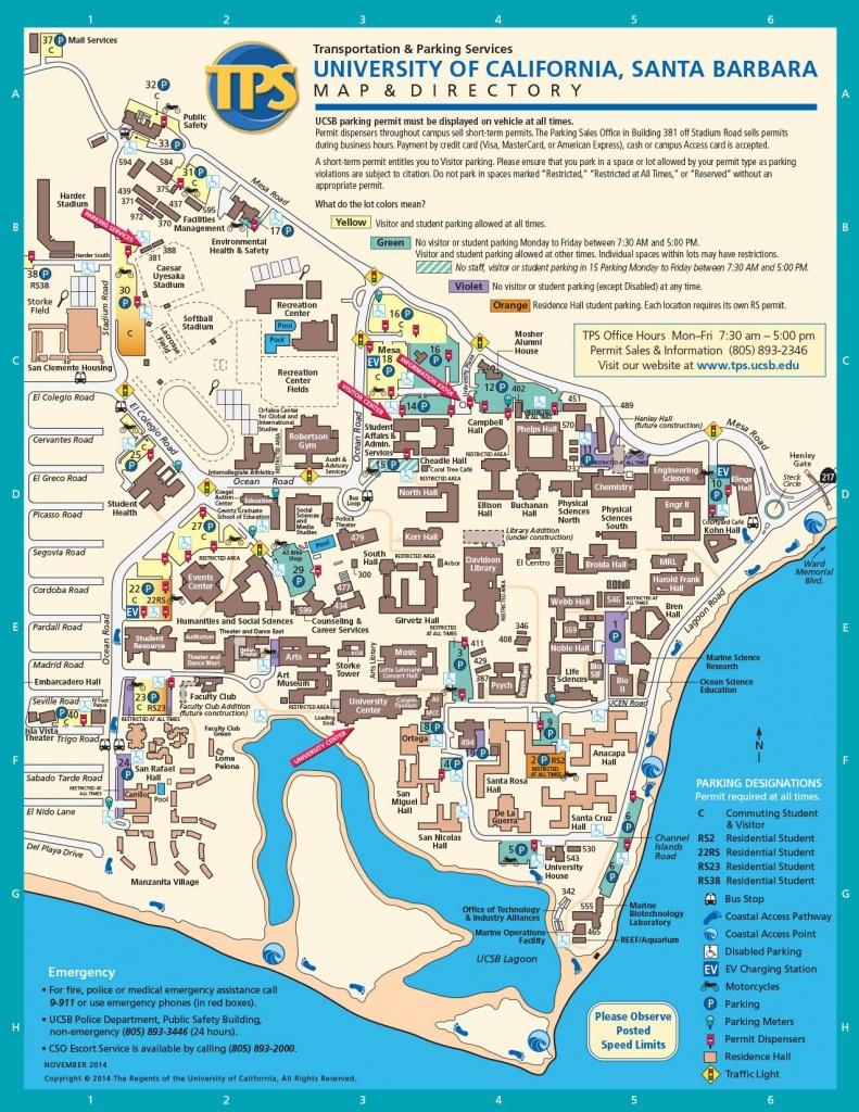Ucsb Campus Map | Santa Barbara Trip In 2019 | Campus Map, Santa - Uw Madison Campus Map Printable