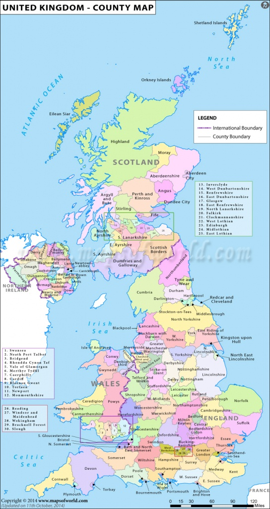 Uk Counties Map | Map Of Counties In Uk | List Of Counties In United - Printable Map Of Uk Counties