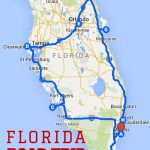 Uncover The Perfect Florida Road Trip | Florida | Road Trip Map   Siesta Key Beach Florida Map