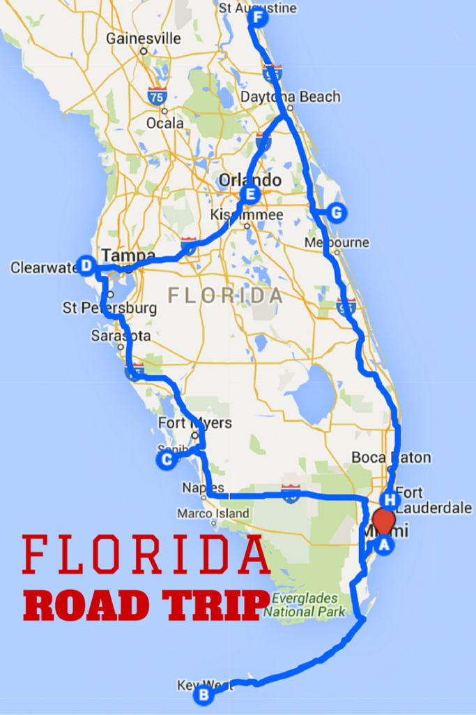Uncover The Perfect Florida Road Trip | Voyages | Yol Gezileri - Florida Destinations Map