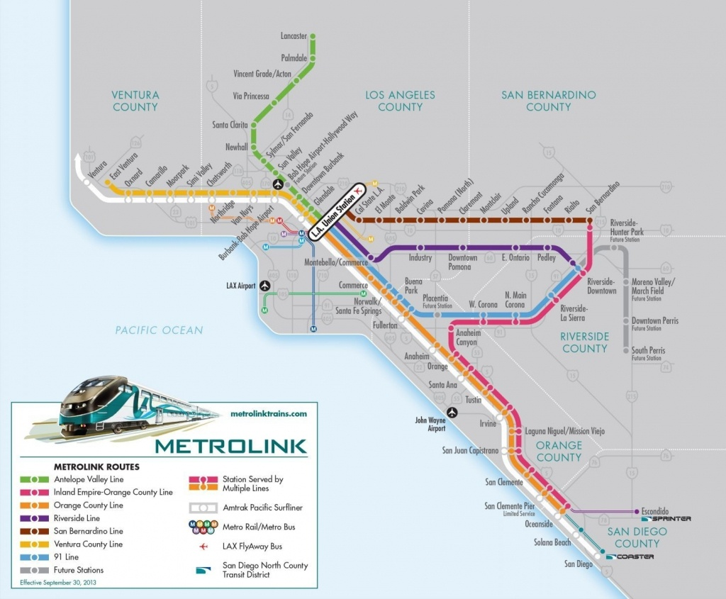 Union Station Los Angeles Metrolink Map – Map Of Usa District - Southern California Metrolink Map