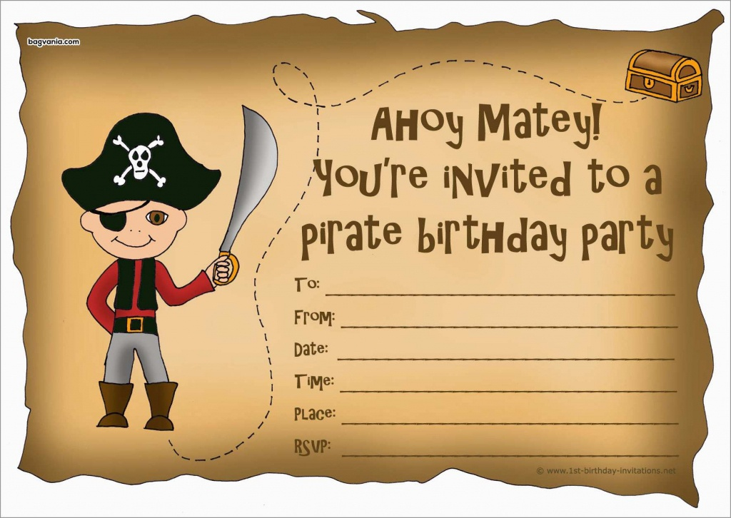 Unique Free Pirate Invitation Template | Best Of Template - Maps For Invitations Free Printable
