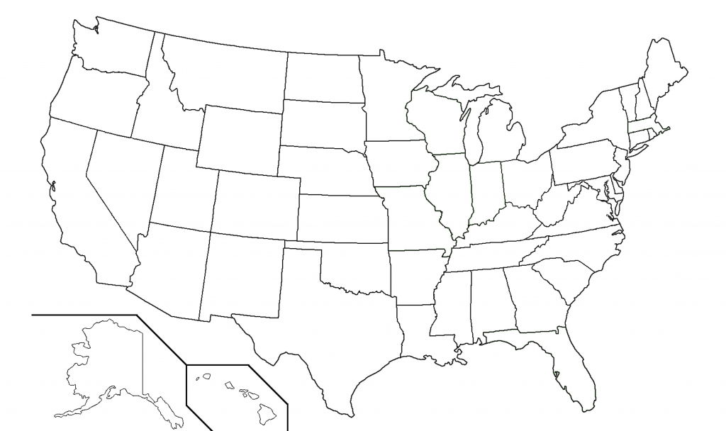 United States Black And White Outline Map Fresh Blank Usa View Of 13 - Printable Blank Map Of The United States