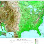 United States Elevation Map   Printable Topographic Map Of The United States