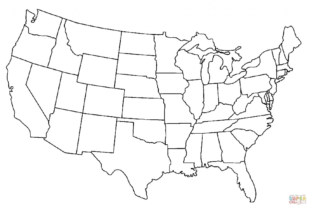 United States Map Coloring Page Printable Save Printable Blank Us - United States Color Map Printable