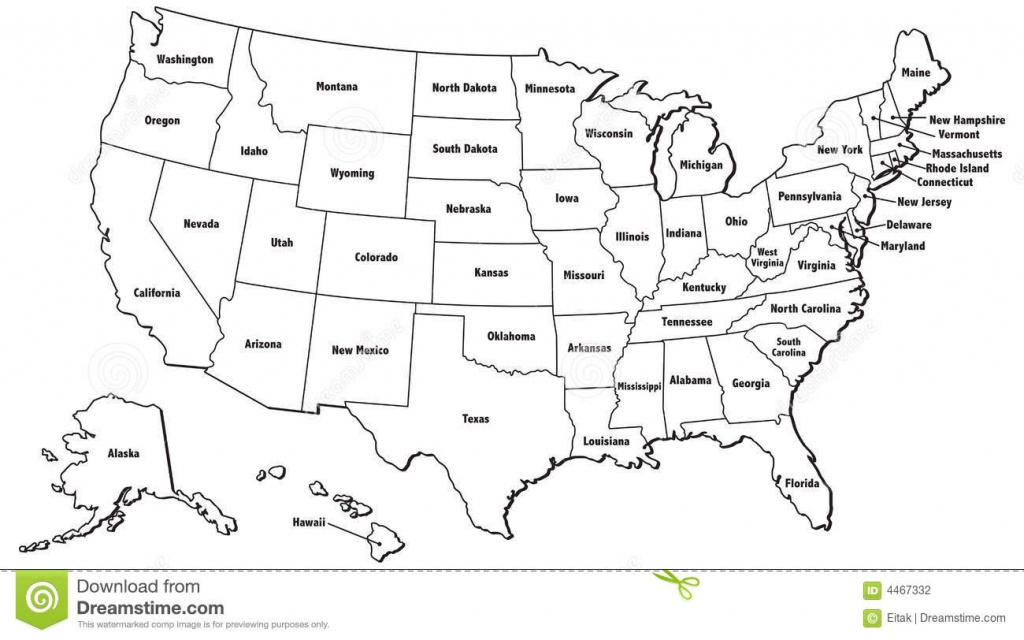 United States Map Jpg And Travel Information | Download Free United - Free Printable United States Map With State Names