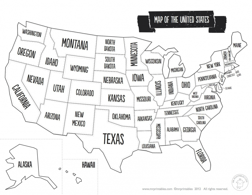 United States Map With State Names And Capitals Printable Save - Printable Map Of The United States With State Names