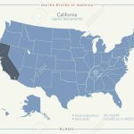 United States Of America Isolated Map And California State Territory   California Territory Map