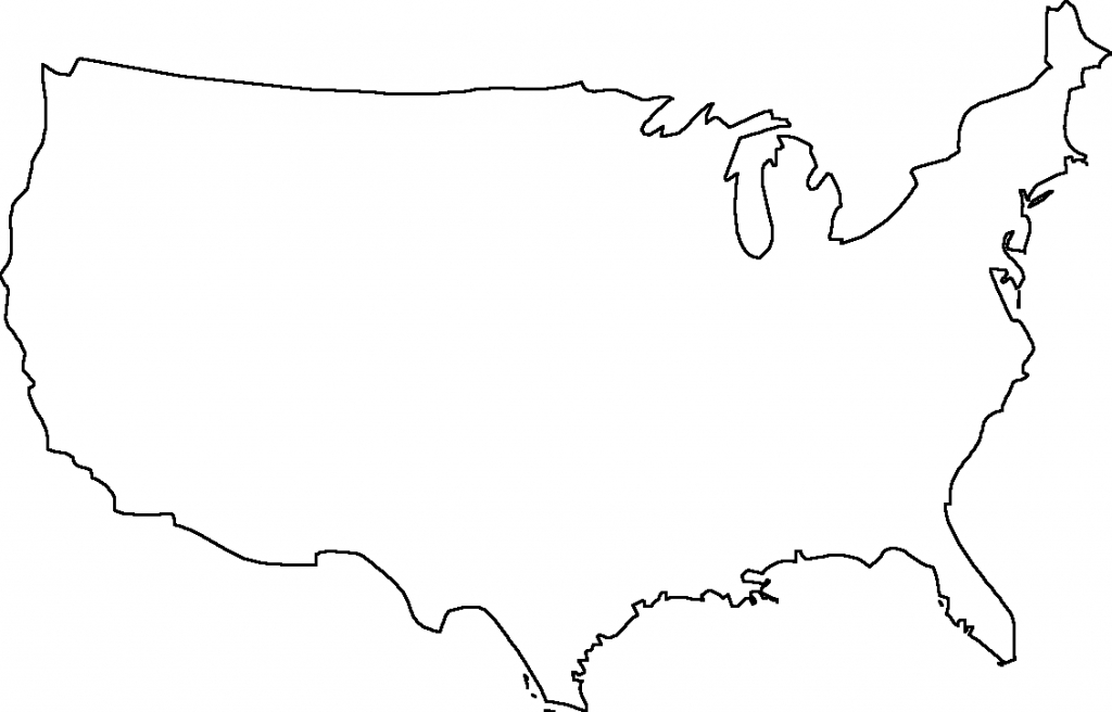 United States Outlin Blank Outline Map - Berkshireregion - Free Printable Outline Map Of United States