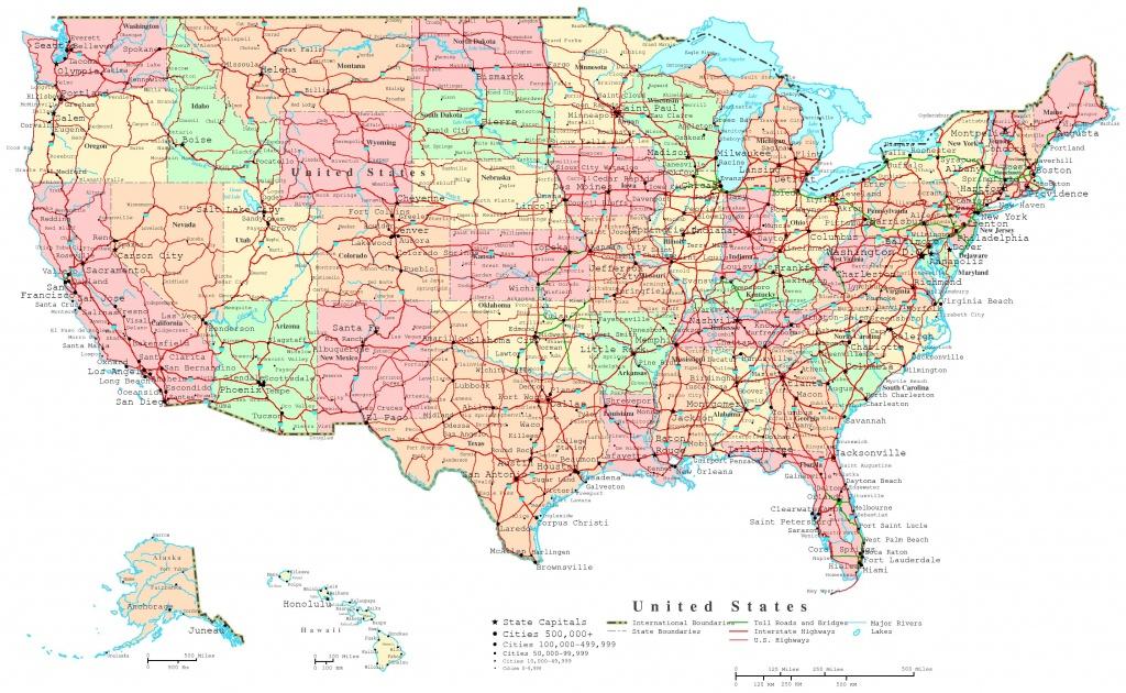 United States Printable Map - Printable Map Of Usa With Major Cities