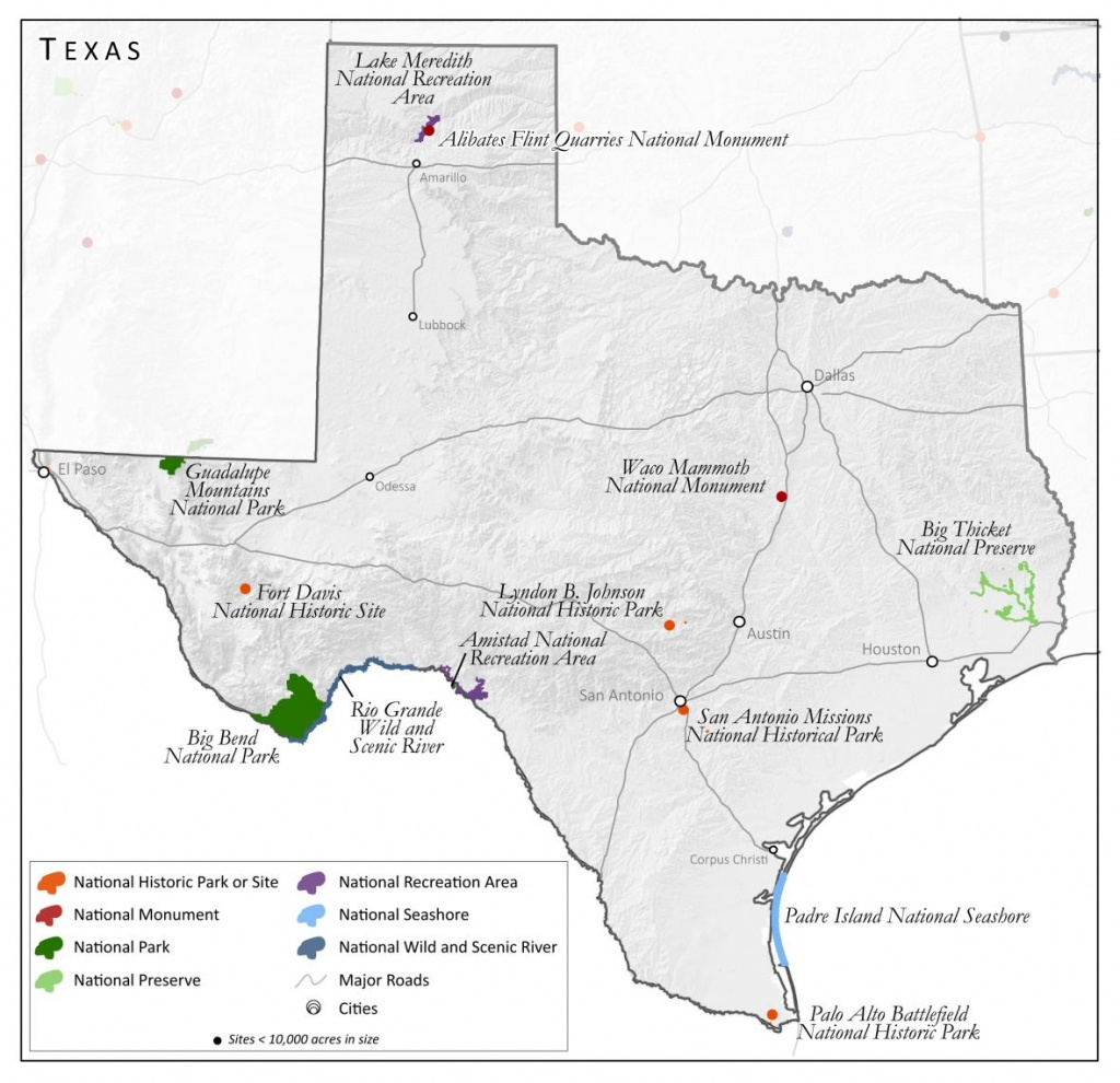 Units Of The National Parks System | South Writ Large - National Parks In Texas Map