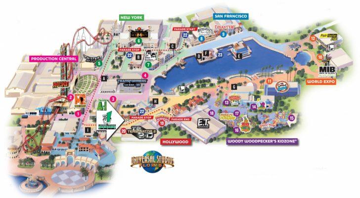 Orlando Florida Universal Studios Map