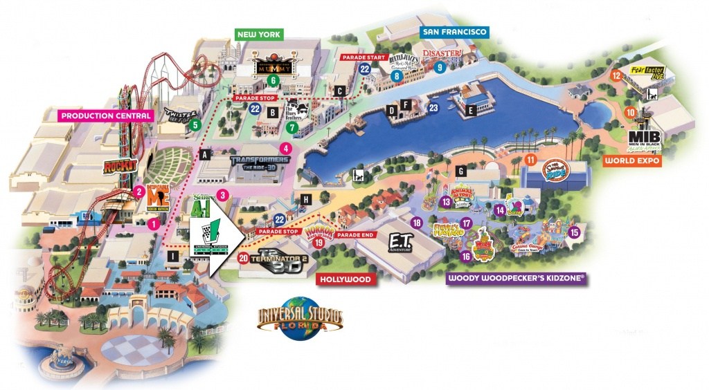Universal Florida Map And Travel Information | Download Free - Orlando Florida Universal Studios Map