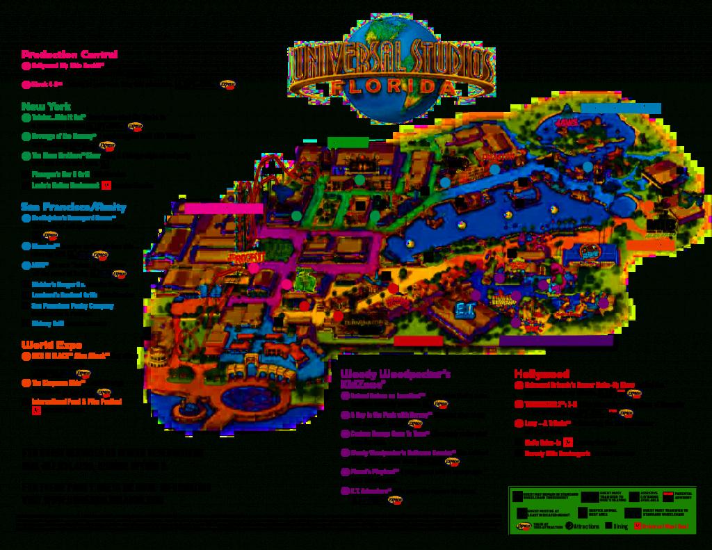 Universal Orlando Park Map 2013   Orlando Theme Park News: Wdw - Map Of Theme Parks In Florida