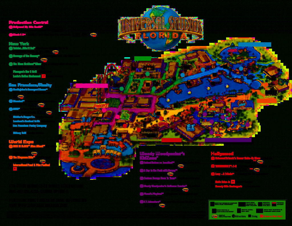 Universal Orlando Park Map 2013   Orlando Theme Park News: Wdw - Orlando Florida Attractions Map