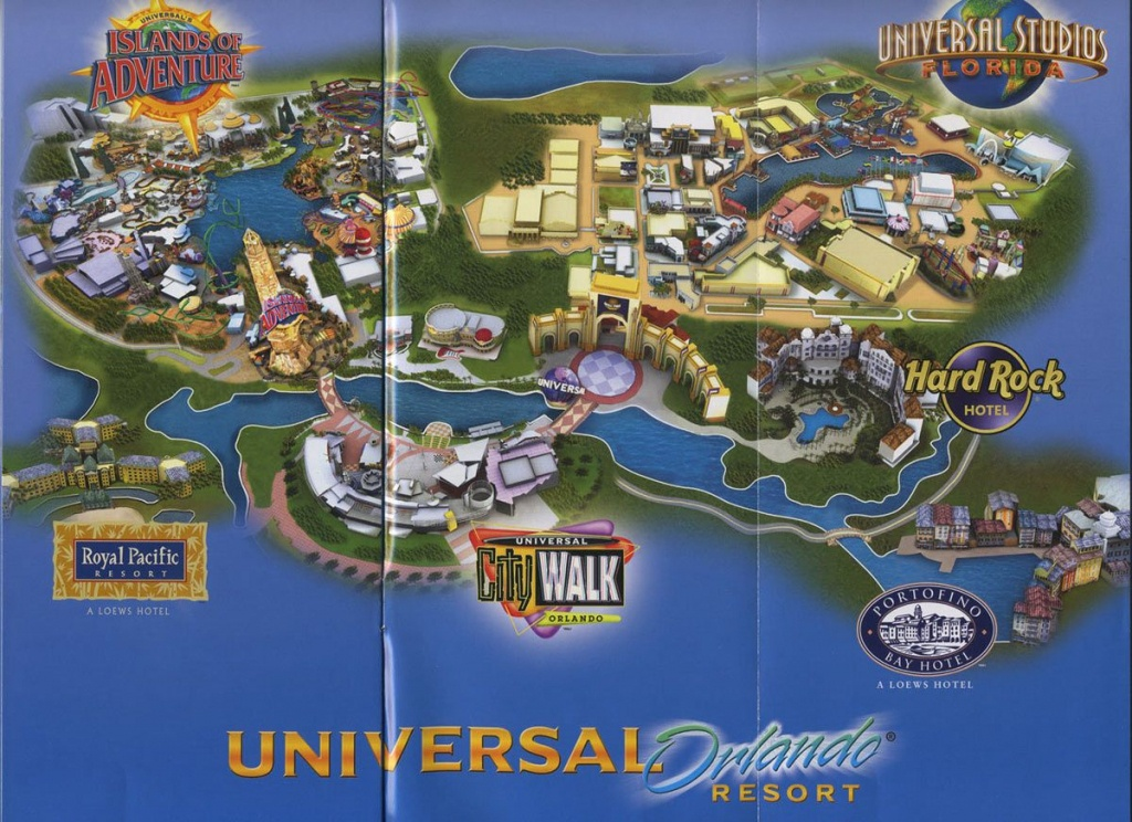 Universal Orlando Resort - 2008 Map | Theme Park Maps | Universal - Map Of Universal Florida Hotels