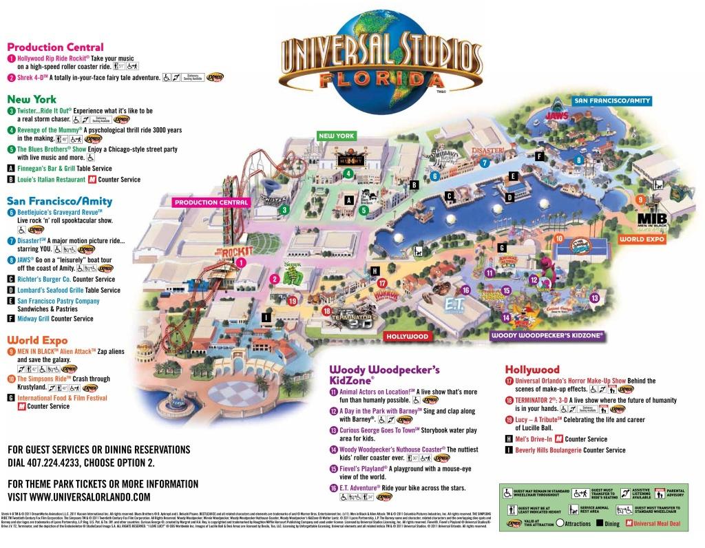 Universal Park Map   Florida Visit Ideas   Universal Studios Florida - Printable Map Of Universal Studios Orlando