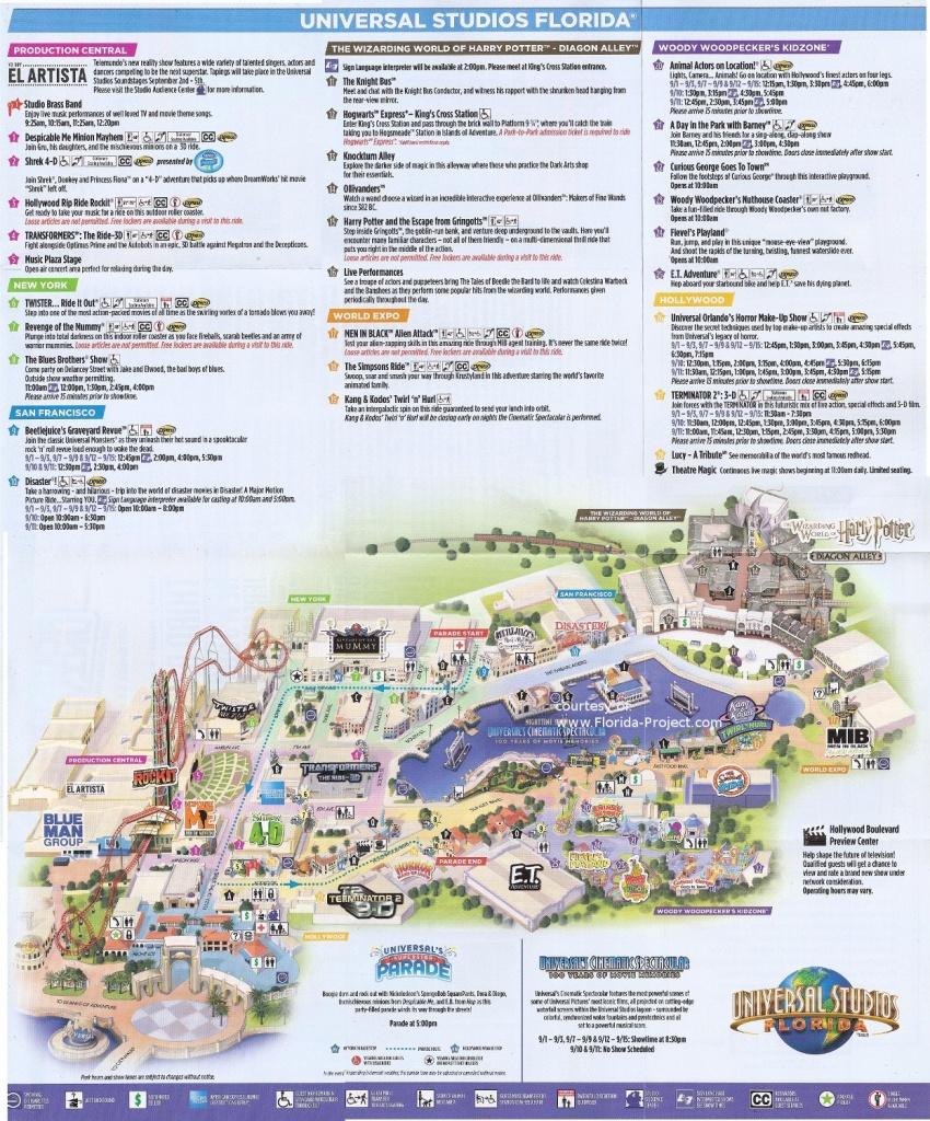 Universal Studios Florida Guidemaps - Universal Studios Florida Map 2018