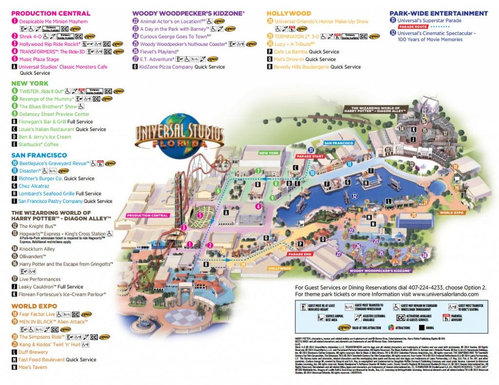 Universal Studios Florida Map 2016 | Autobedrijfmaatje - Universal Studios Florida Park Map